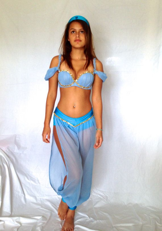 Sexy Princess Jasmine/Kim custom made size XSSM by delphina123, $350.00