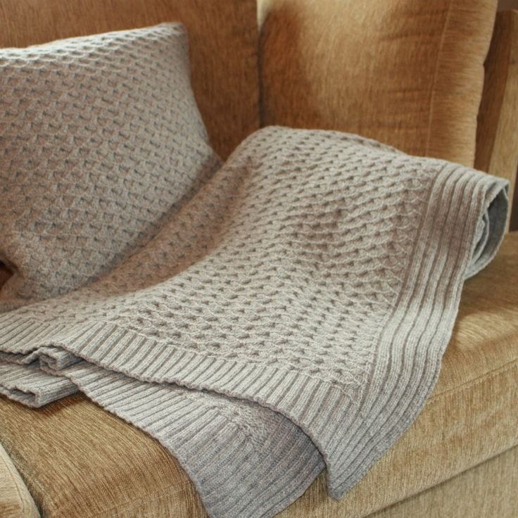 Plume Silk Lambswool Collection - Grey Knit Throw #bedroomdecor #modernbedroom bed linen, pillows, throws   Shop at http://plumesilk.com/decoration/17-grey-knit-throw.html