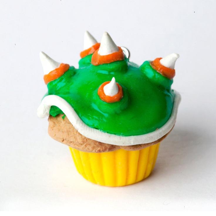 Super Mario: Bowser Cupcake Charm. £6.00, via Etsy.