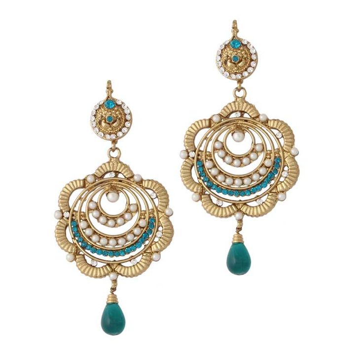 Rama Gold Plated Pearl Earrings