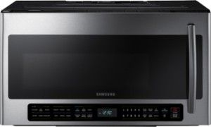 Samsung - 2.1 Cu. Ft. Over-the-Range Microwave - Stainless Steel - Front Zoom