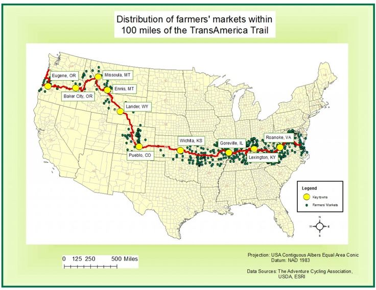 TransAmerica Trail - and the food-farmer's markets along ...