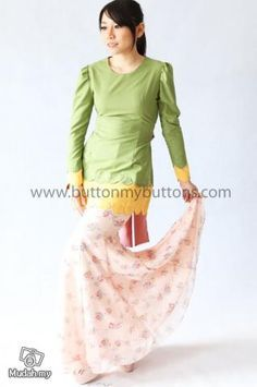 buttonmybuttons baju kurung - Google Search