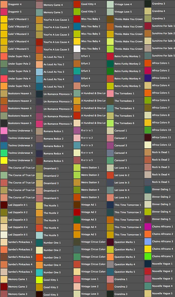 18 Best images about Photoshop - Color Swatches on ...