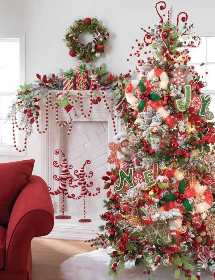 Web site has lots of tree decorating ideas and lists of items on trees