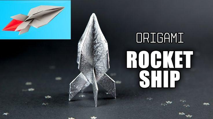 Origami Rocket Ship Tutorial  Flying Spaceship  Paper Kawaii #origami #paperkawaii