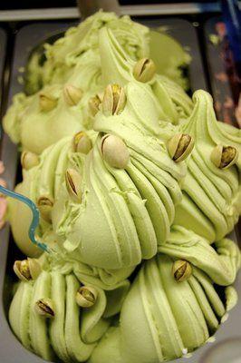 ...Sicilian pistachio gelato. Delizioso!