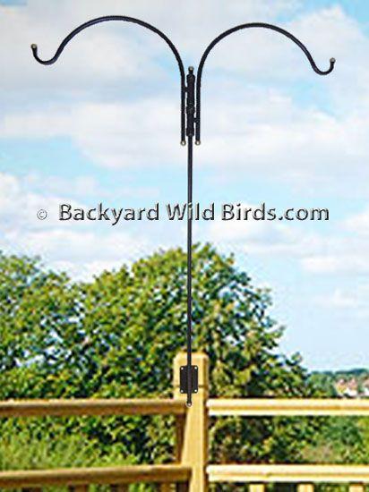Deck Bird Feeder Pole Duo Adjustable