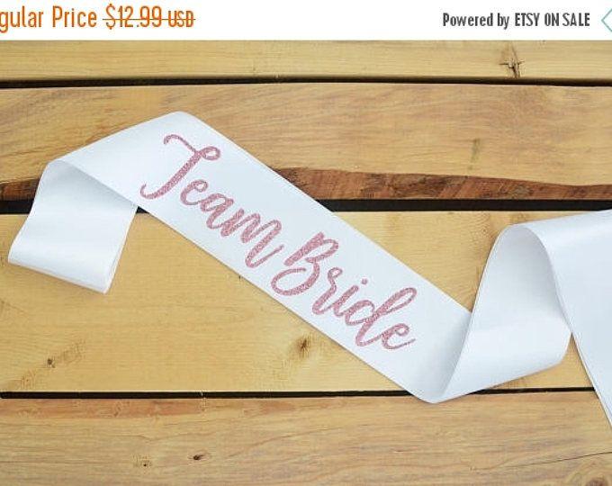 SALE Team Bride Sash, Bride Sash, Bride to Be, Bachelorette Party Sash, Bridal Shower Sash, Future Mrs, Team Bride, Custom Sash, Team Bride