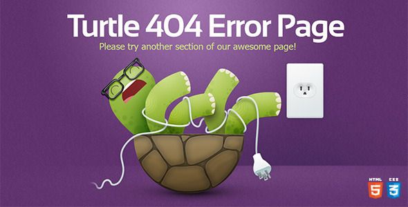 Turtle - 404 Error Template - 404 Pages Specialty Pages