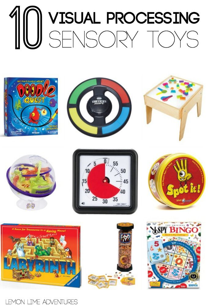 Visual Processing Sensory Toys Sensory gifts for kids | Part of an awesome gift guide covering multiple sensory systems. I never would have thought of these! Repinned by SOS Inc. Resources pinterest.com/sostherapy/.