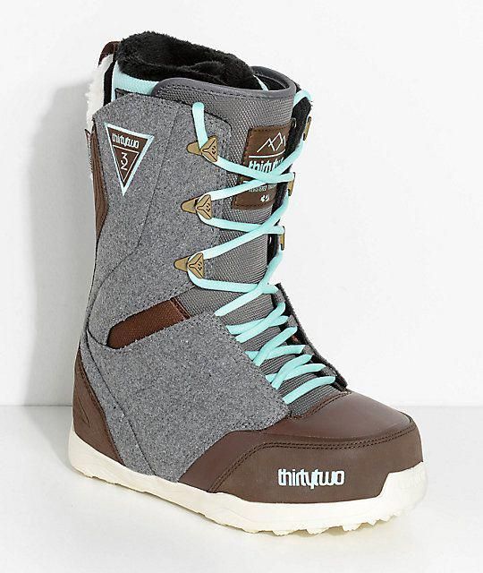 3903e68a7501 ThirtyTwo Womens Lashed Grey Snowboard Boots  Snowboarding ...