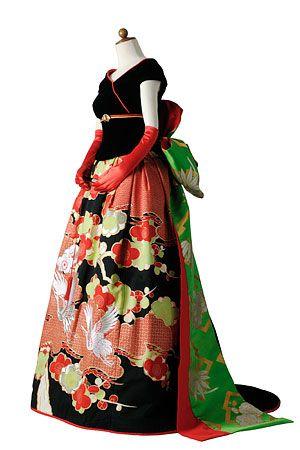 Kimono dress, remake dress, rent dress's robe daddy   color dress · princess line