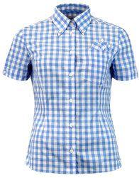 BRUTUS TRIMFIT Women's Mod Gingham Check Shirt in sky: http://www.atomretro.com/24872 #brutus #brutustrimfit #brutusshirt #trimfit #trimfitshirt #ginghamshirt #gingham #atomretro #womensfashion #womensstyle