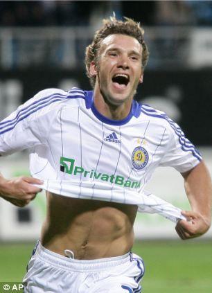 Andriy Shevchenko: (Ukrainian) Dynamo Kyiv, Milan, Chelsea