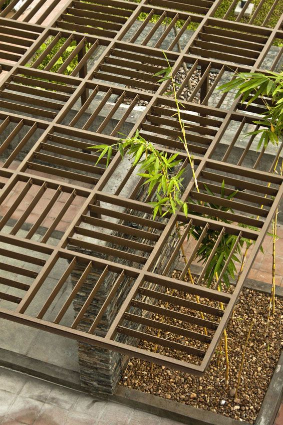 Interesting way to top a pergola -- World Landscape Architecture – landscape architecture webzine