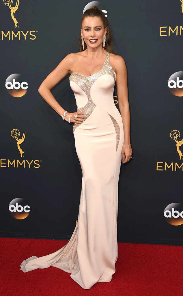 Sofia Vergara from Worst Dressed at the 2016 Emmys  There's no doubt the Modern Family actress has a great body, but she has a habit of wearing the same kind of dresses. We're hoping to see something unexpected this award season.