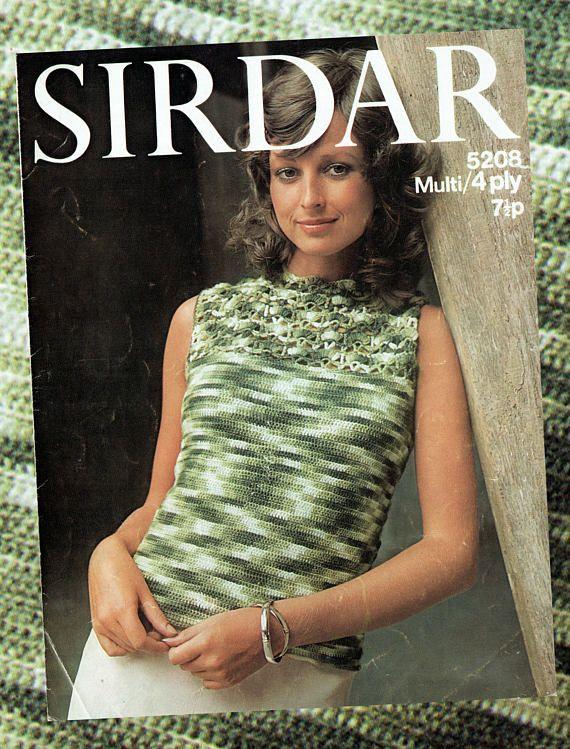Original Vintage 1970s Womens Ladies Knitting Pattern Lacy