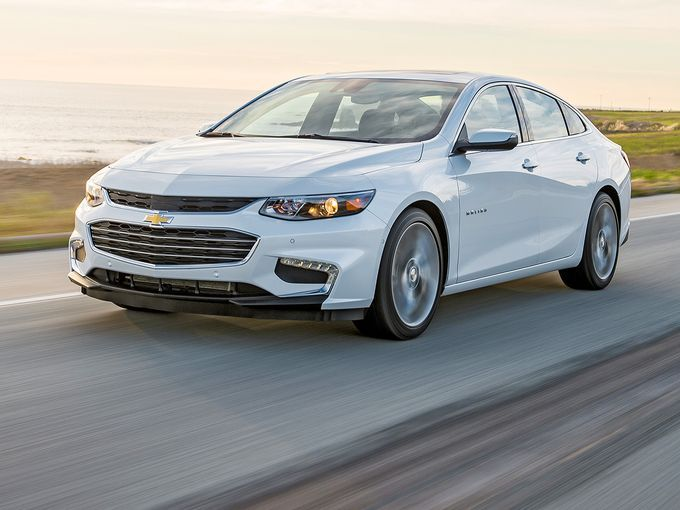 The 2016 Chevrolet Malibu is nearly 300 pounds lighter