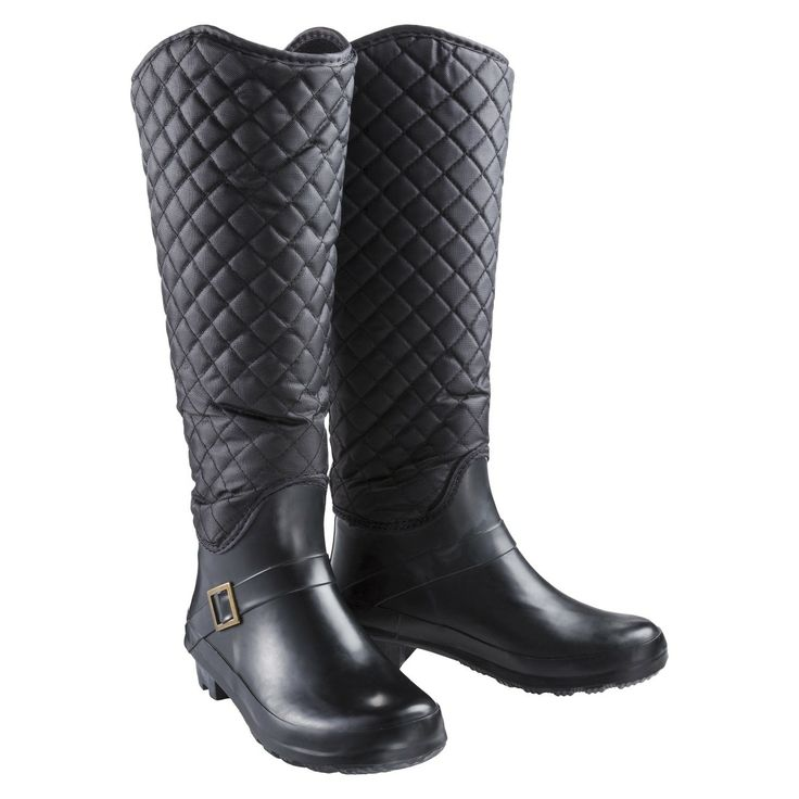 Black Rain Boots For Women - Boot Hto