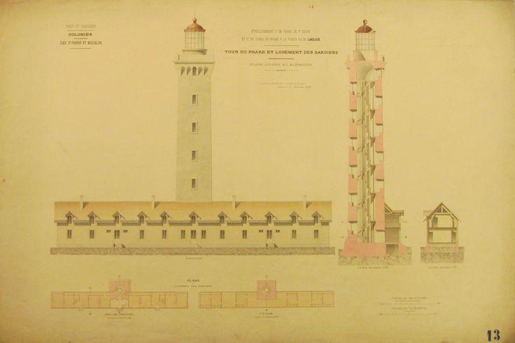 Phare de l'Anglade. Saint-Pierre et Miquelon. Arch nat CP/F/14/17532/7, pièce 25