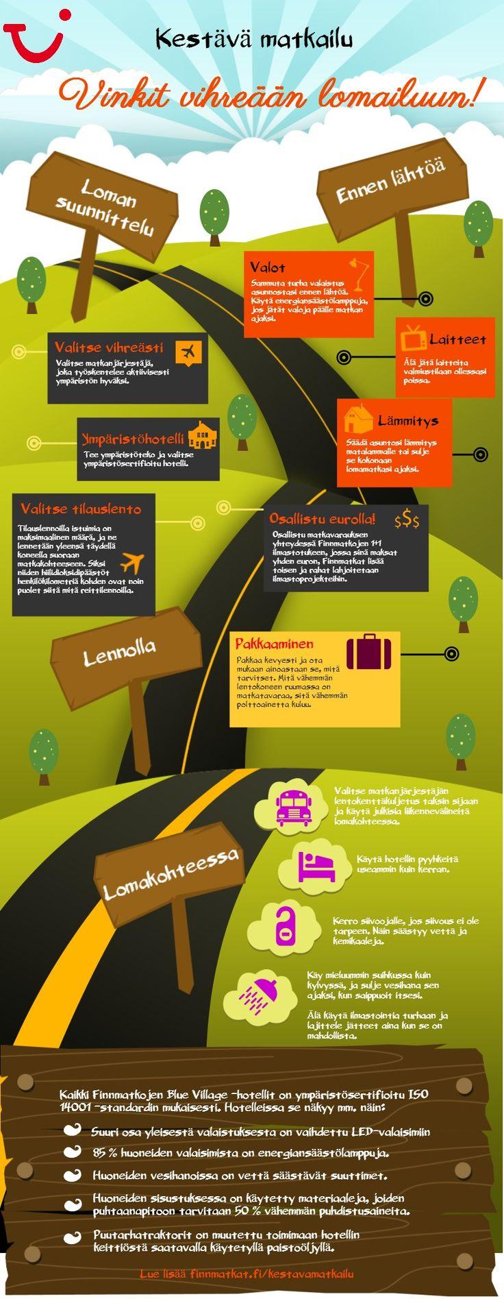 Auta ympäristöä pienillä teoilla ennen lomaa ja loman aikana. http://www.finnmatkat.fi/Tietoa-Finnmatkoista/Kestava-matkailu/ #Finnmatkat