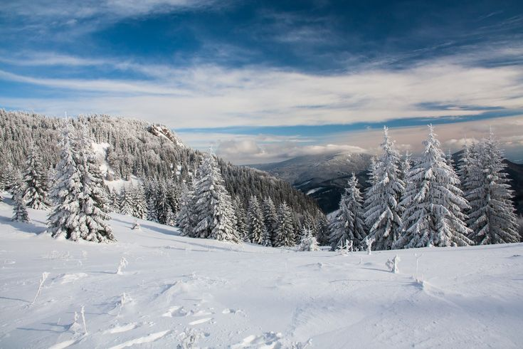 Freezing cold, but great weather and conditions for a hike in the Mala Fatra, Slovakia.
