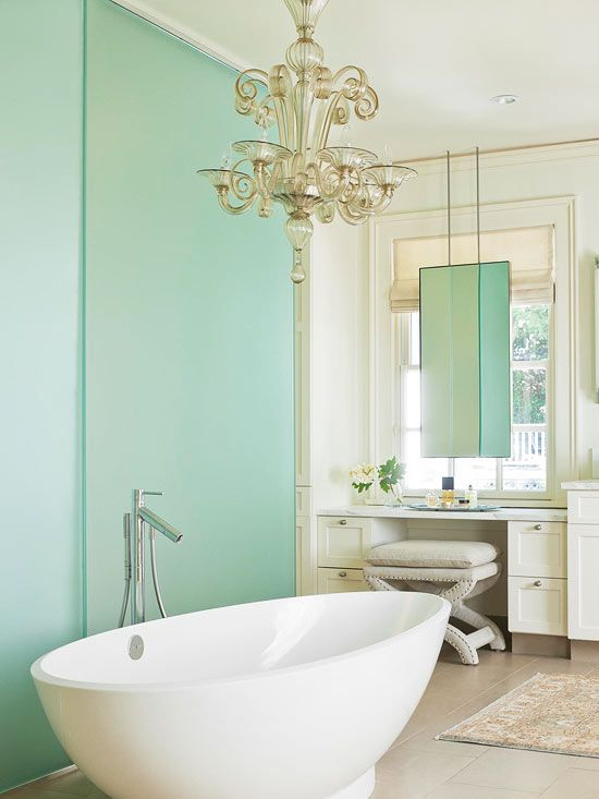 plan the perfect tub for your bathroom mint green