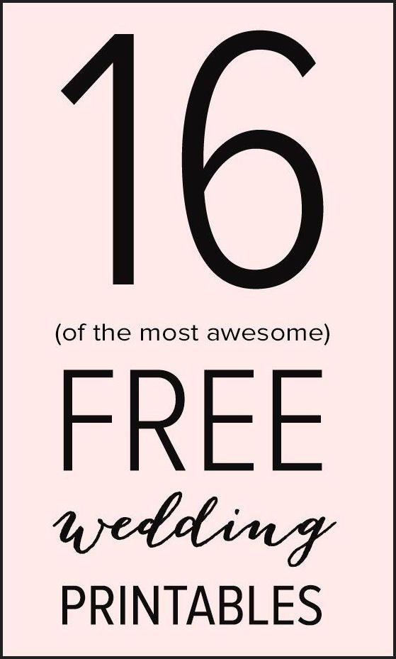 16 free wedding printables
