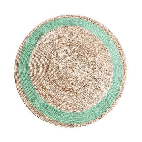 Teppich rund Jute Grün bei Möbelhaus Hamburg, 120 cm, 59 EUR