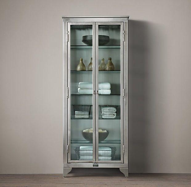 1930s Laboratory Stainless Steel Storage Cabinet Medium ...