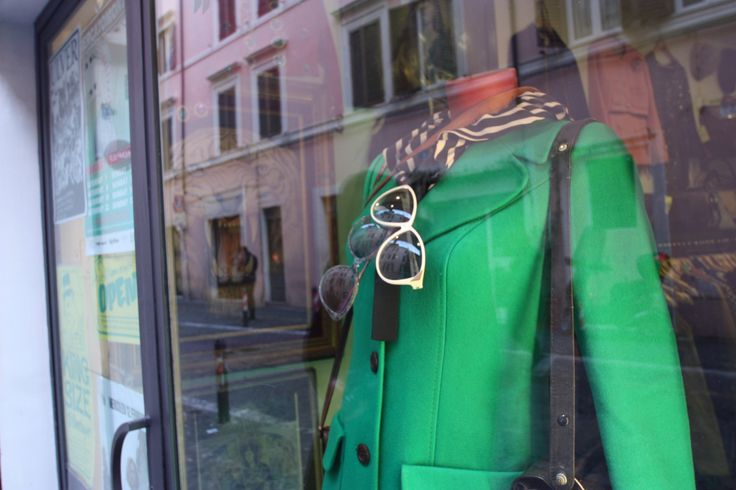 #Green Coat in #RioneMonti, #Rome.