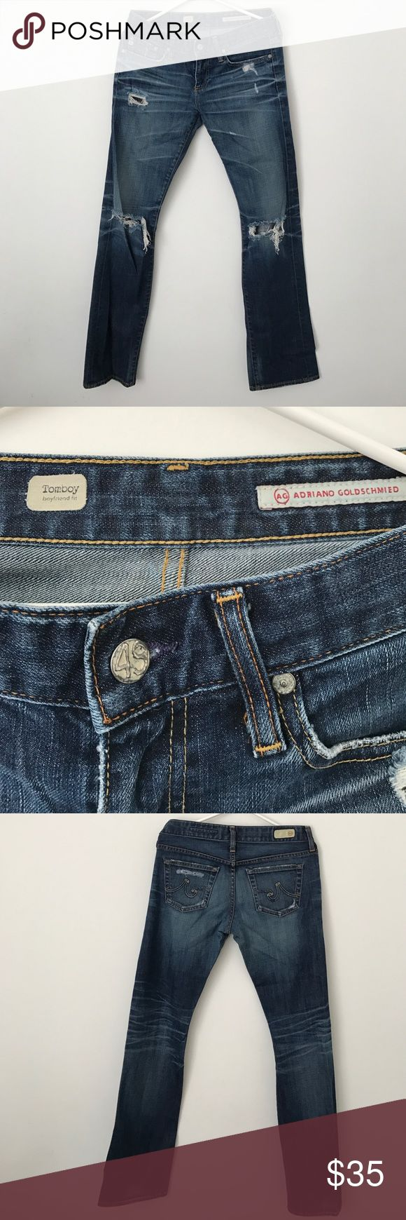 AG Adriano Goldschmied. Tomboy boyfriend fit. AG Adriano Goldschmied. Tomboy boyfriend fit. Great condition. Non-smoking/no pets household. AG Adriano Goldschmied Jeans