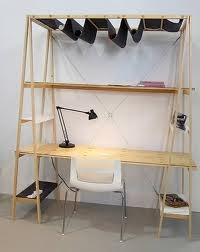 Trestle desk with Shelves - Google Search