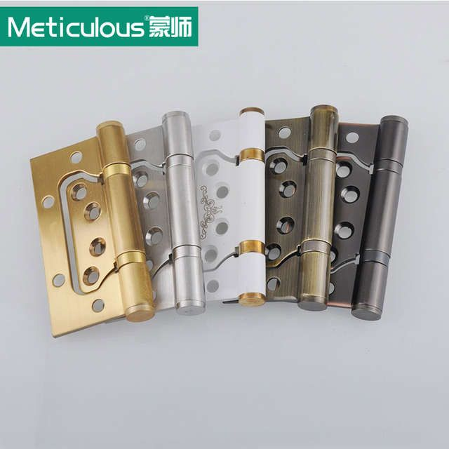 2pcs Meticulous 4 Inch Ball Bearing Flush Hinges Stainless Steel Door Hinges 3mm Thick With Screws Furniture Stainless Steel Doors Flush Hinges Wardrobe Doors