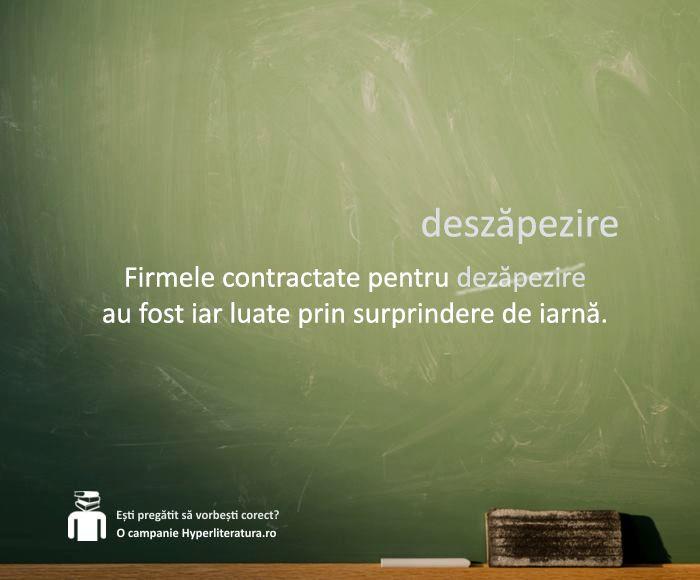 """1. În derivatele de la cuvintele care încep cu b, d, g, v, m, n, l, r sau cu vocală, prefixul care le precede este """"dez-"""". Exemple: """"dezgoli"""", """"dezveli"""", """"dezminţi"""", """"dezinteresat"""", """"dezaproba"""" etc.  2. În derivatele de la cuvintele care încep cu s, ş, j, prefixul """"des-"""" s-a redus la """"de-"""": """"desăra"""", """"deşela"""", """"dejuca"""" etc.  3. În derivatele de la cuvintele care încep cu restul de consoane, prefixul care le precede este """"des-"""". Exemple: """"descoase"""", """"desface"""", """"despărţi"""" etc."""