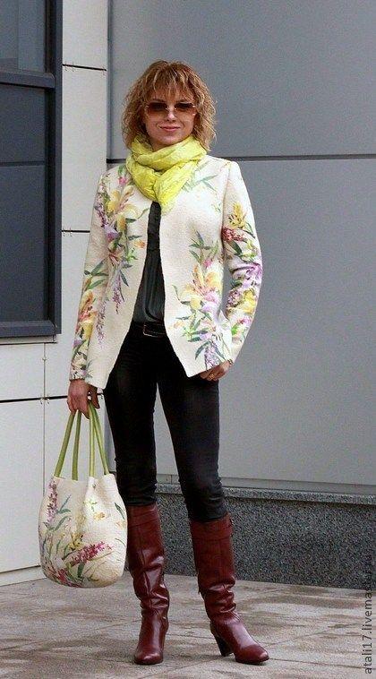 """Пиджаки, жакеты ручной работы. Ярмарка Мастеров - ручная работа Жакет """"Снова Фаворит """"-войлок. Handmade."""