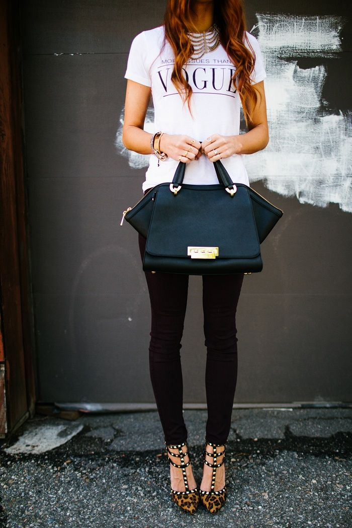 ...Style Lately tee & Zac Posen bag...