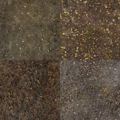 Dry Grass and Mud Photo-Texture #Mud#Photo#Dry#Grass | 3d