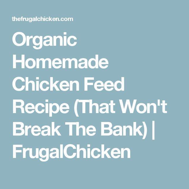 Organic Homemade Chicken Feed Recipe (That Won't Break The Bank)   FrugalChicken
