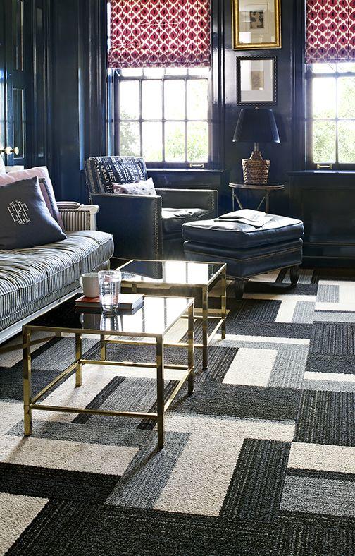 coffee tables {Black, White & Grey Square Carpet Tiles}