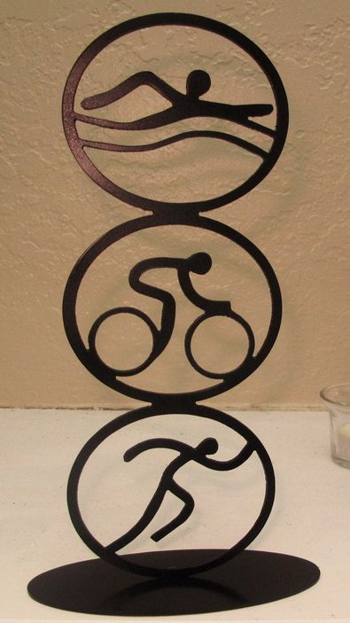 Vertical Triathlon Sculpture by BCMetalCraft on Etsy, $30.00