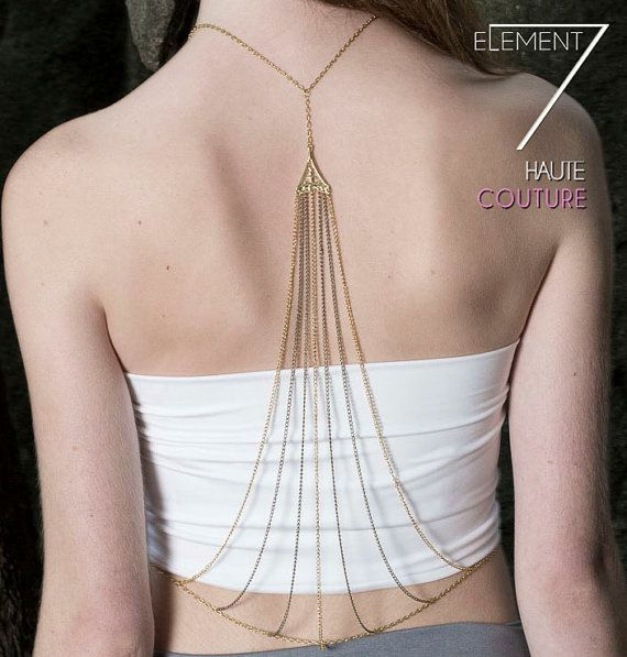 Morphus Body Chain Jewelry Back Jewelry by Element7 on Etsy, $158.00