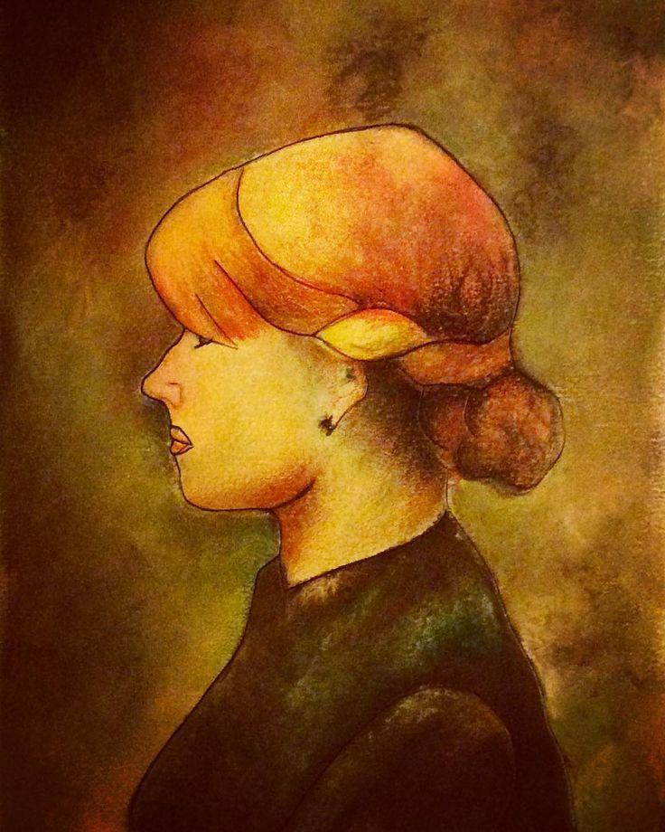 "Toulouse-Lautrec ""Ragazza dai capelli rossi"" 1889 #drawing#gessetti#toulouselautrec#capellirossi#colors#disegno#exercises#tratto#art#mypassion#artist#painting#historyofart"