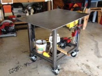 moveable welding table