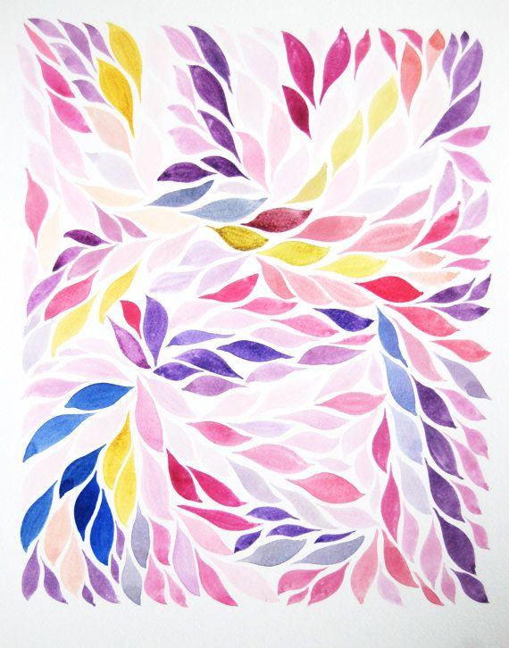 Large Original Floral Watercolour Art Painting, Kew Gardens
