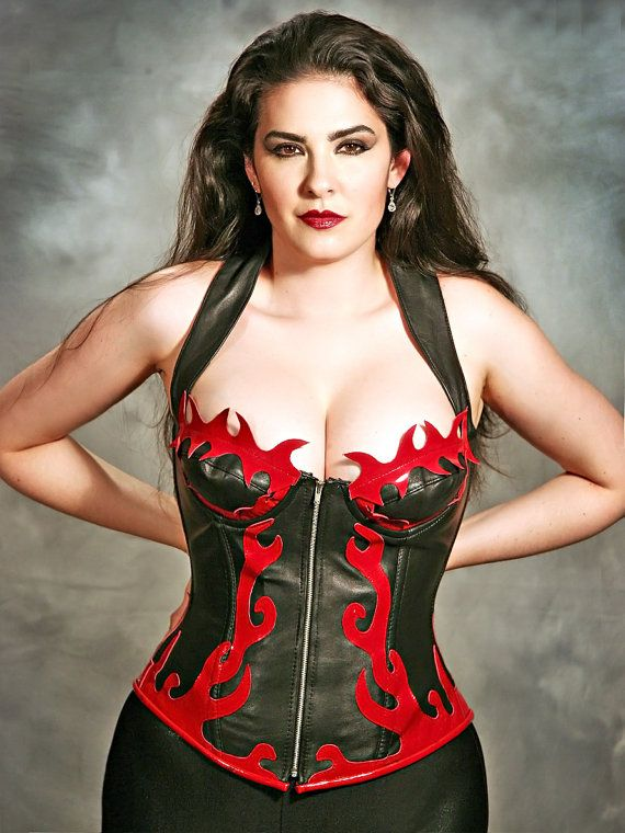 leather corset Bbw