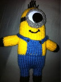 "At Home with the Lunchbox Guru: ""Despicable Me"" Minion Toy - Knitting Pattern"