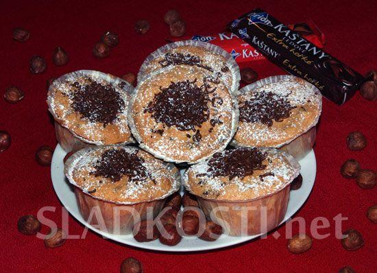 Bílkové muffiny s Ledovými kaštany