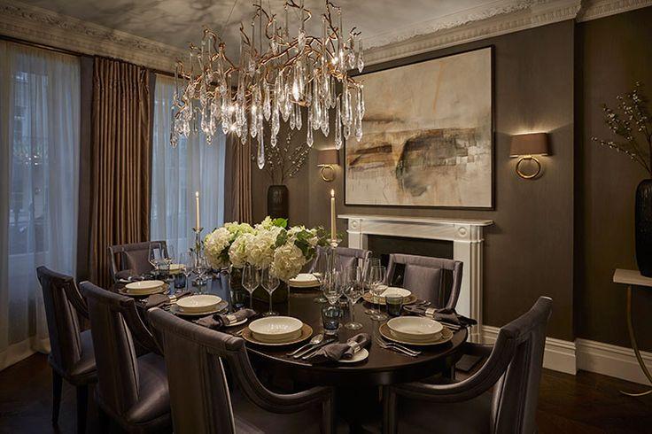 Роcкошная люстра Serip Lighting в интерьере столовой  http://www.suntrade.com.ua/brands/serip/